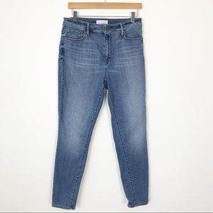 LOFT Curvy High Waist Skinny Ankle Jeans 29 8